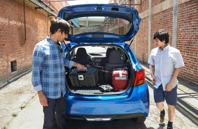 2016 Toyota Yaris storage