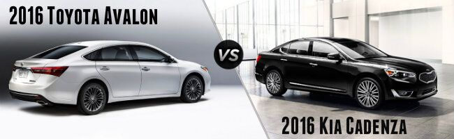 2016 Toyota Avalon vs 2016 Kia Cadenza