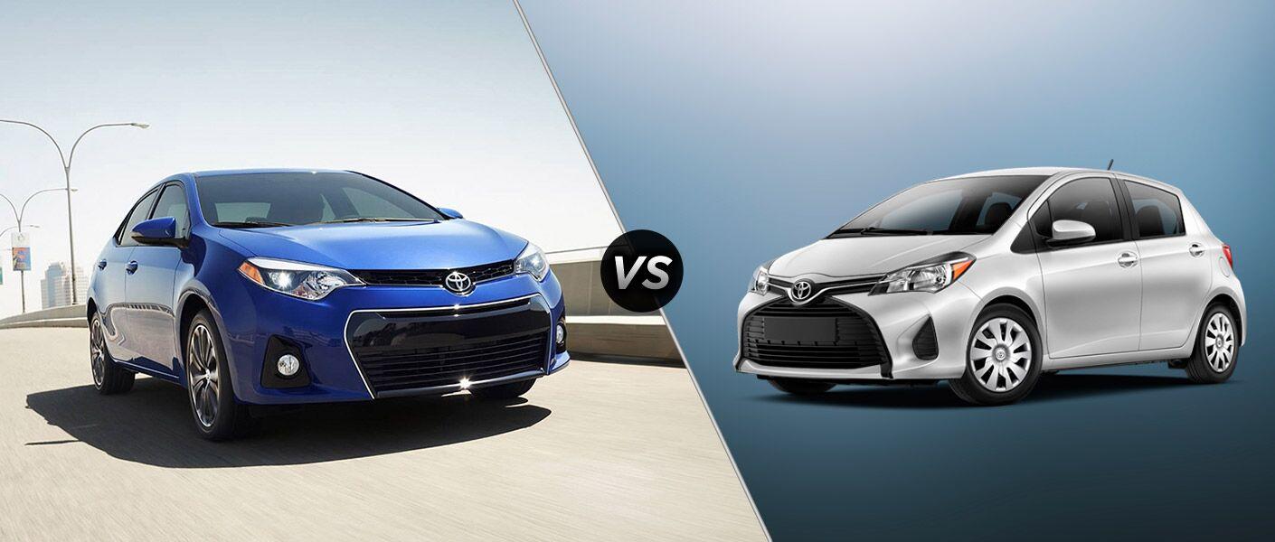 2016 Toyota Corolla vs 2016 Toyota Yaris
