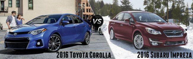 2016 Toyota Corolla vs 2016 Subaru Impreza