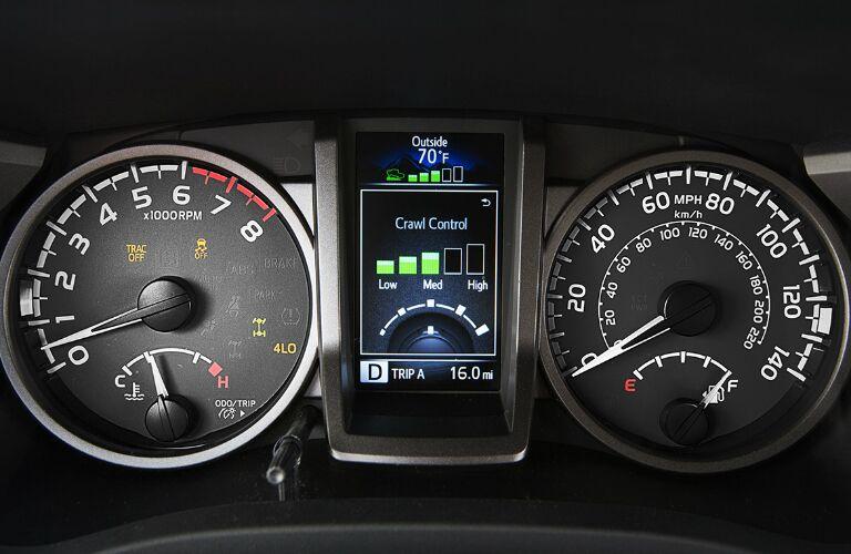 2016 Toyota Tacoma dash dials