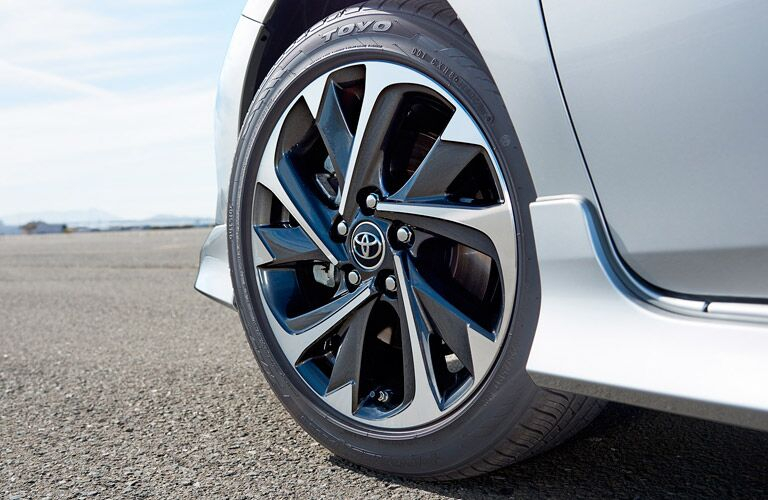 2017 Toyota Corolla iM close-up of hubcap
