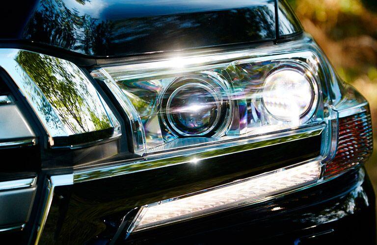 2017 Toyota Landcruiser headlight closeup
