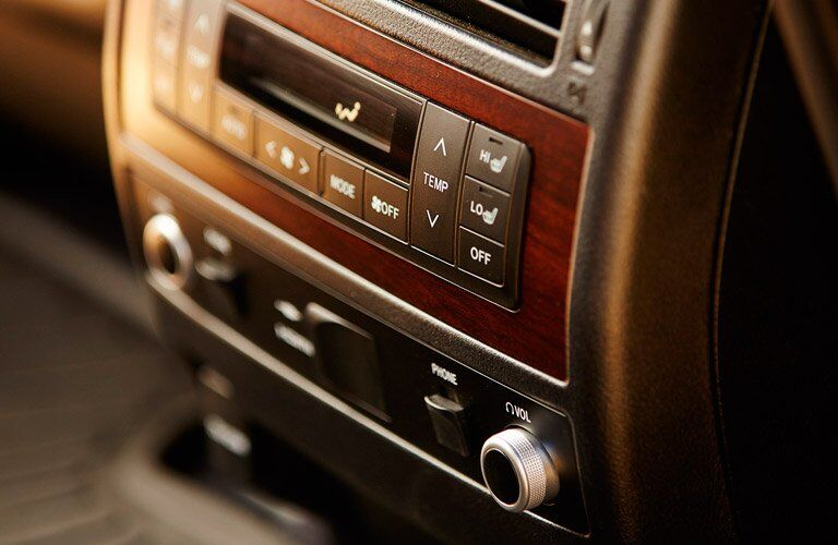 Controls in the 2017 Toyota Land Cruiser