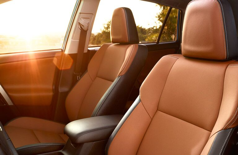 Interior View of the 2017 Toyota RAV4 Seating in Tan