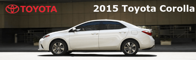 2015 Toyota Corolla exterior Serra Toyota
