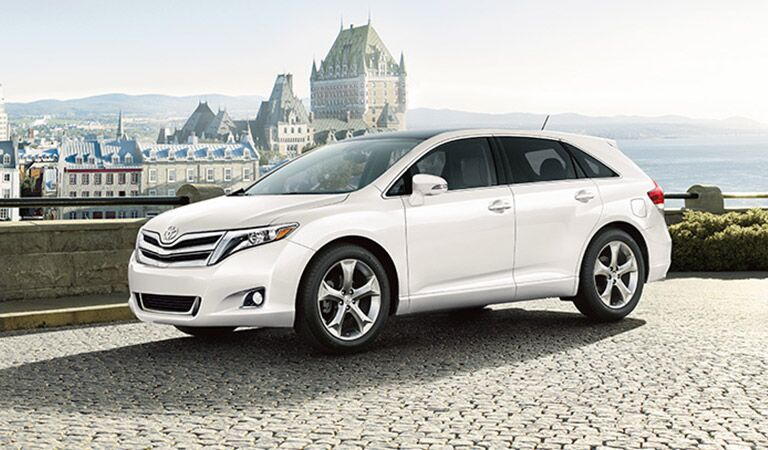 Toyota Venza Side View in White