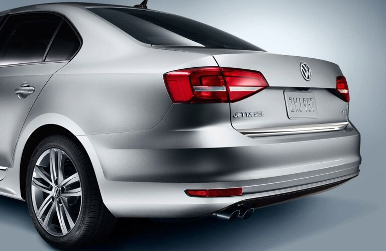 Close up of the 2017 Volkswagen Jetta's rear bumper