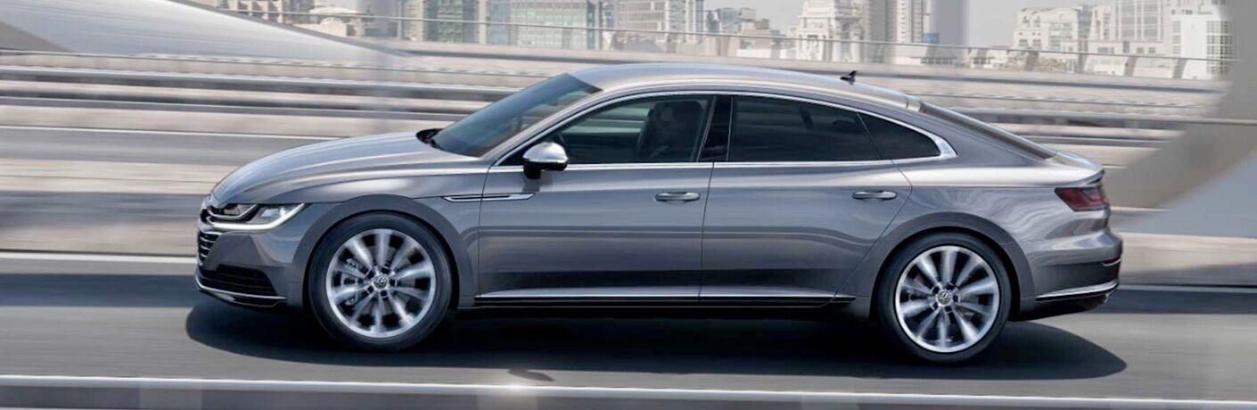 Silver 2019 Volkswagen Arteon in profile