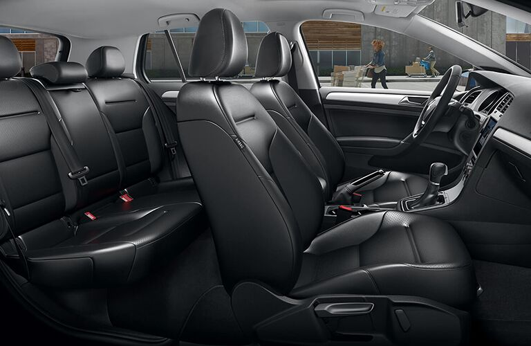 Synthetic leather upholstery seats inside 2019 Volkswagen Golf
