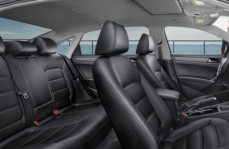 The interior view of the seats inside a 2020 Volkswagen Passat.