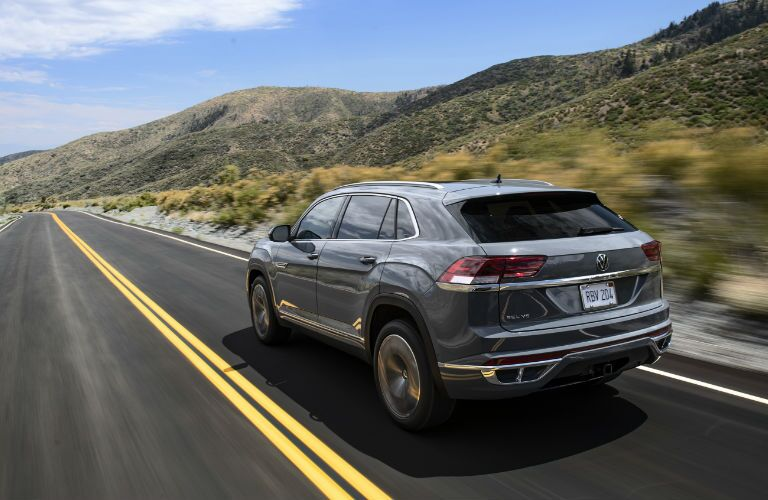 2020 Volkswagen Atlas CrossSport driving on a road