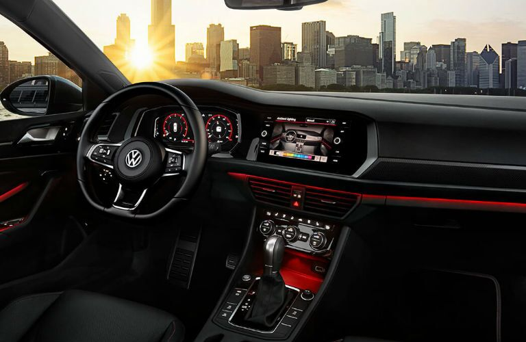 2020 Volkswagen Jetta GLI dashboard and steering wheel