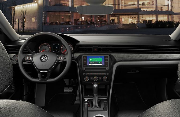 2020 Volkswagen Passat steering wheel and infotainment system