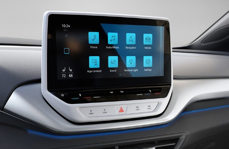 Touchscreen display inside the 2021 Volkswagen ID.4