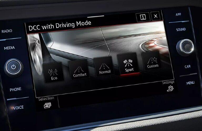 2021 Volkswagen Jetta GLI driving mode selection screen