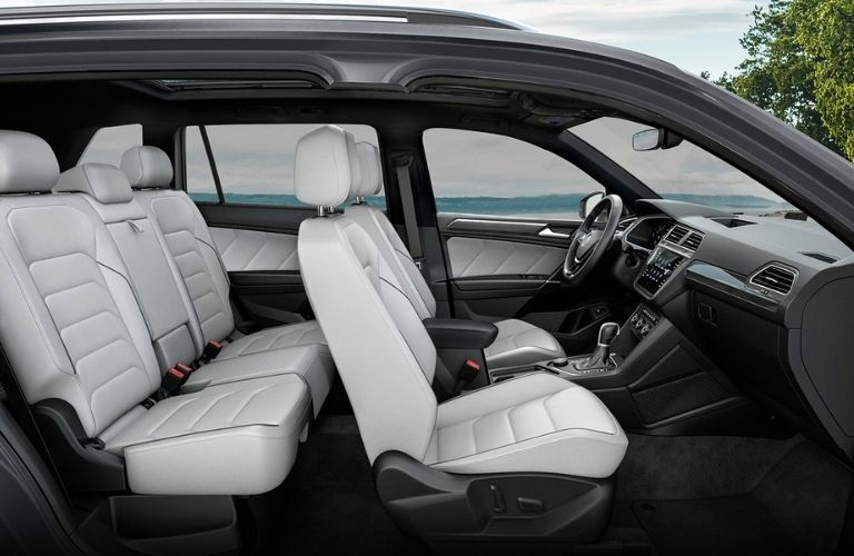 side interior view of the 2022 VW Tiguan