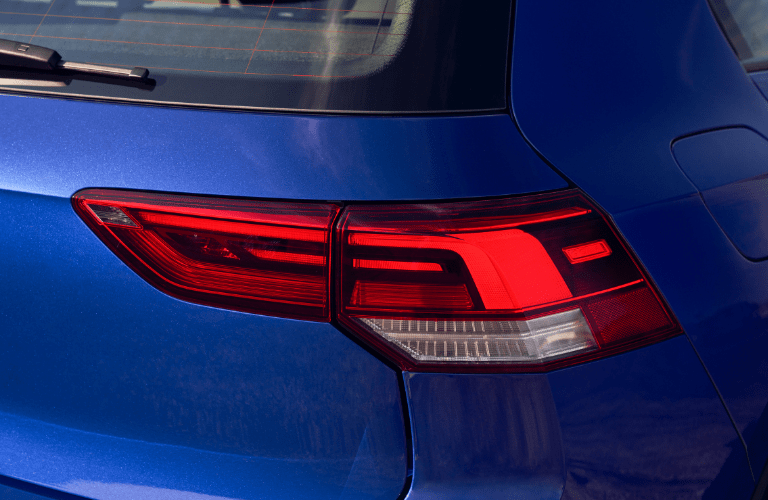taillight of the 2022 VW Golf R