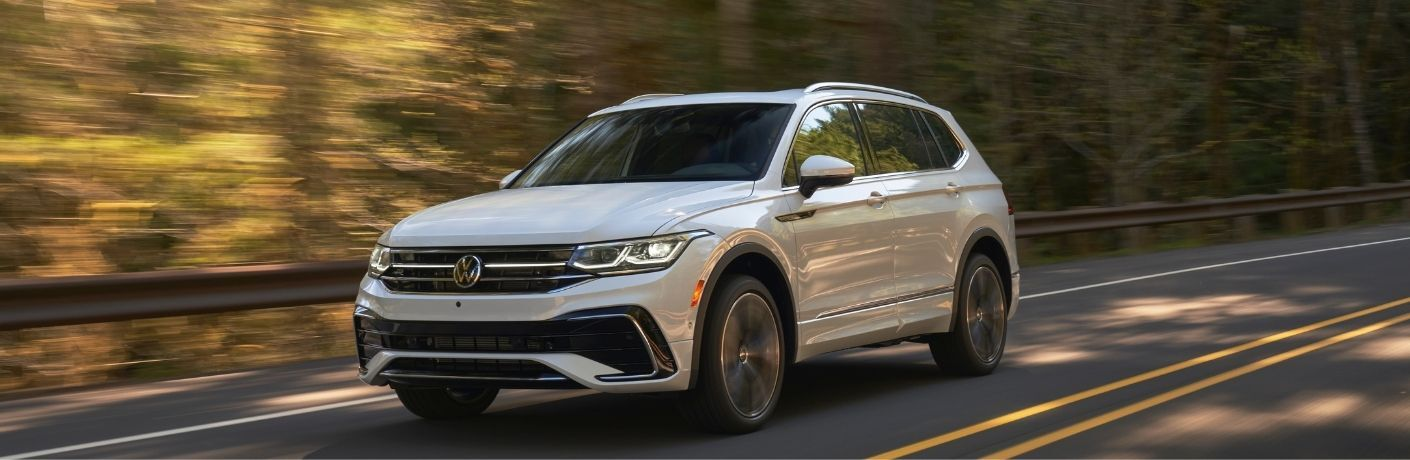 front and side view of the 2022 VW Tiguan