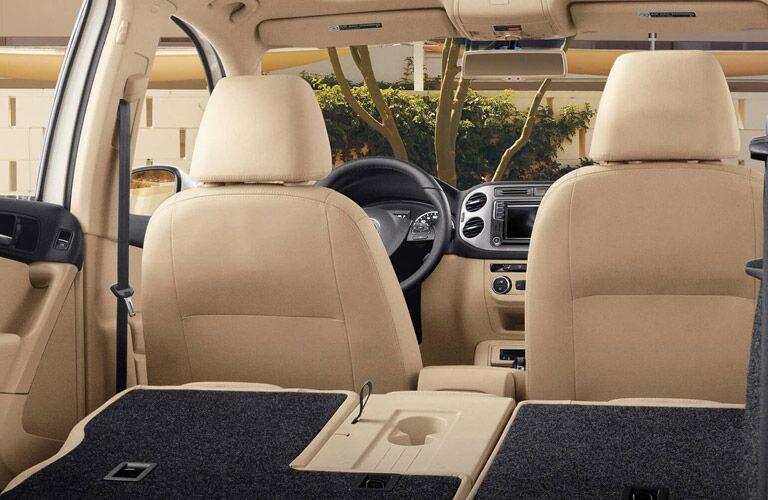 2016 Volkswagen Tiguan tan leather interior
