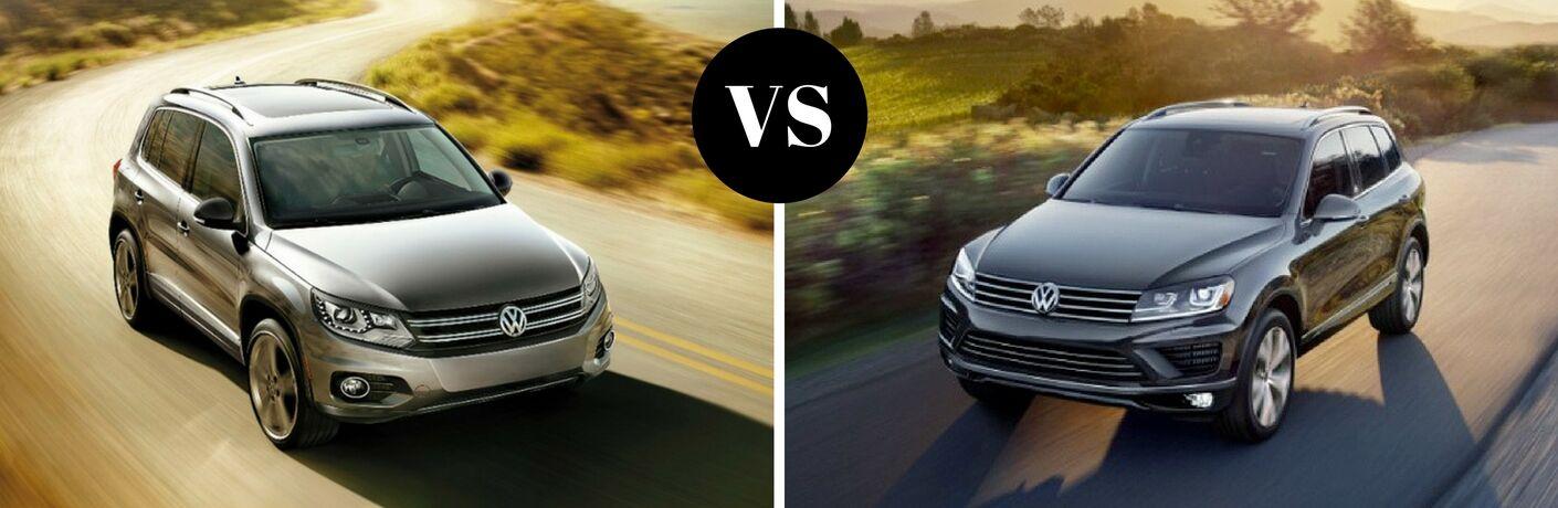 2017 Volkswagen Tiguan vs 2017 Volkswagen Touareg