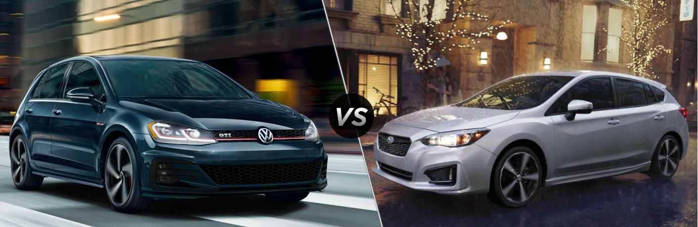 2018 Volkswagen Golf GTI vs 2019 Subaru Impreza Limited