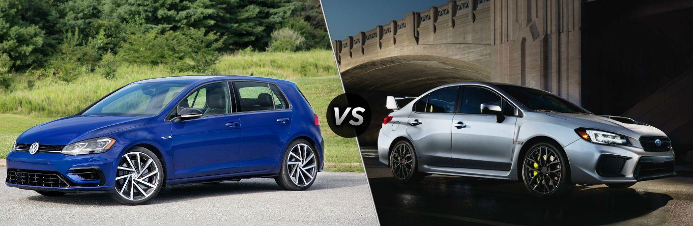 2018 Volkswagen Golf R vs 2018 Subaru WRX STI