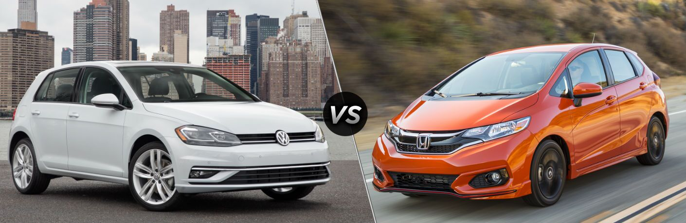 2018 Volkswagen Golf vs 2019 Honda Fit
