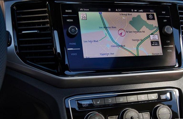 2021 Volkswagen Atlas Cross Sport navigation view