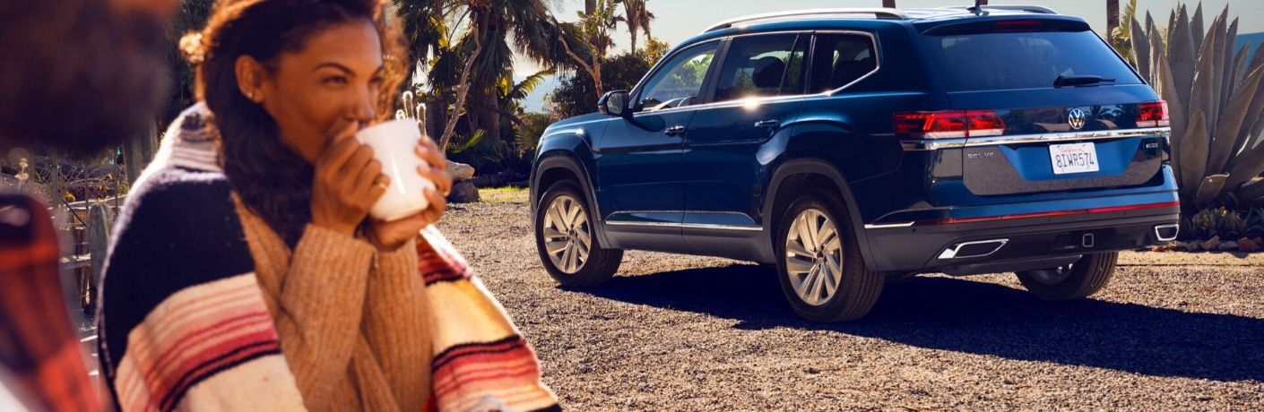 2021 Volkswagen Atlas parked outside on beach