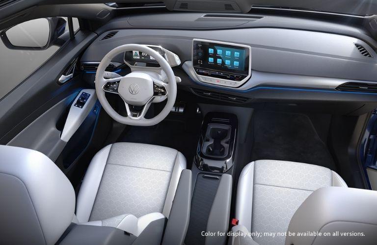 2021 Volkswagen ID.4 interior dash an wheel view