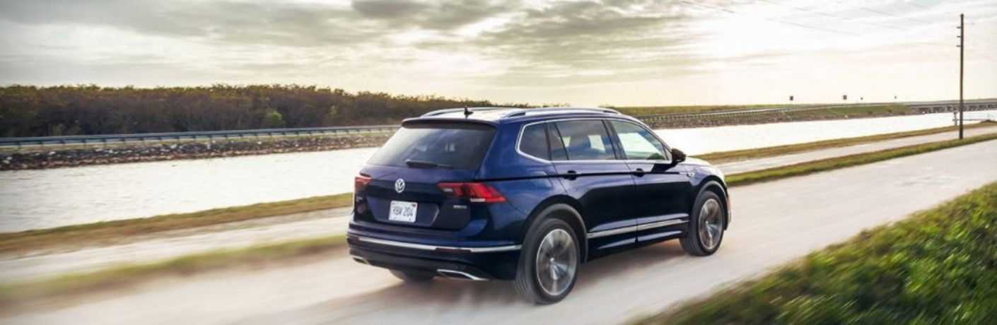 2021 Volkswagen Tiguan driving rear view