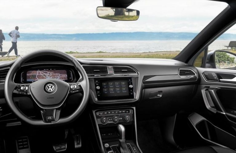 2021 Volkswagen Tiguan interior dash and wheel