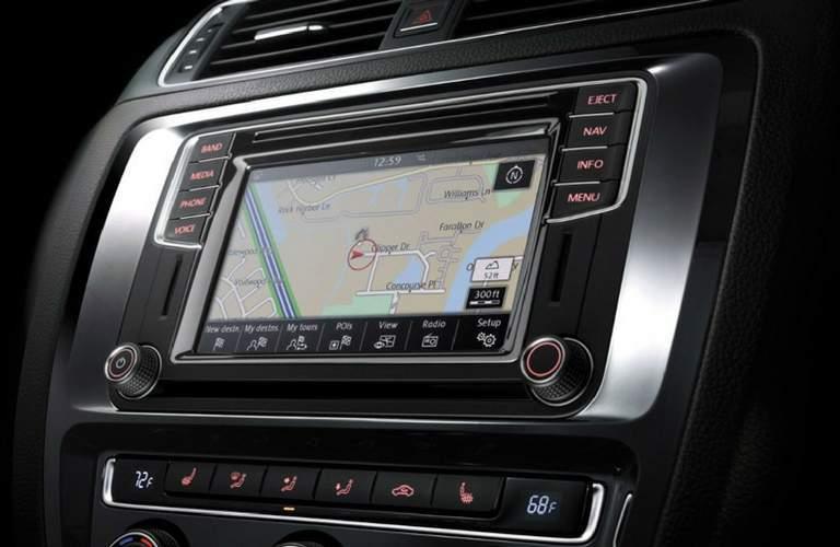 Navigation system in 2017 Volkswagen Jetta