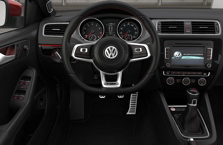 2015 VW Jetta GLI interior steering wheel controls technology