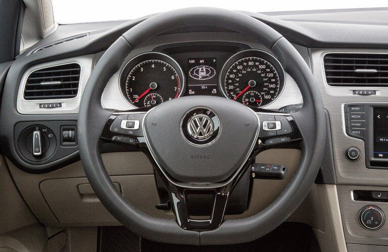 2017 Volkswagen Golf SportWagen Multi-Function Steering Wheel