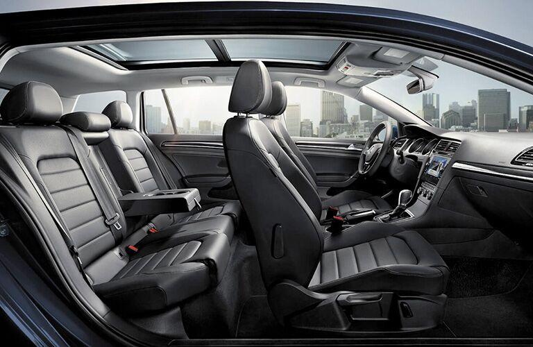 2019 Volkswagen Golf SportWagen interior passenger seats
