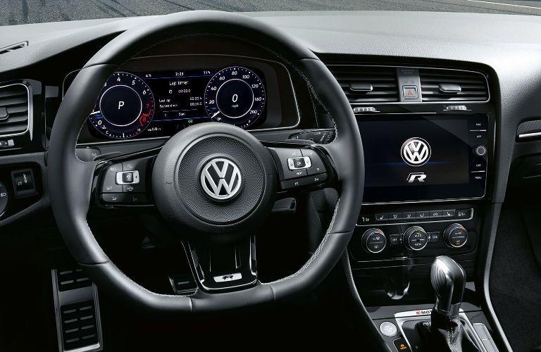 2019 Volkswagen Golf R dashboard features