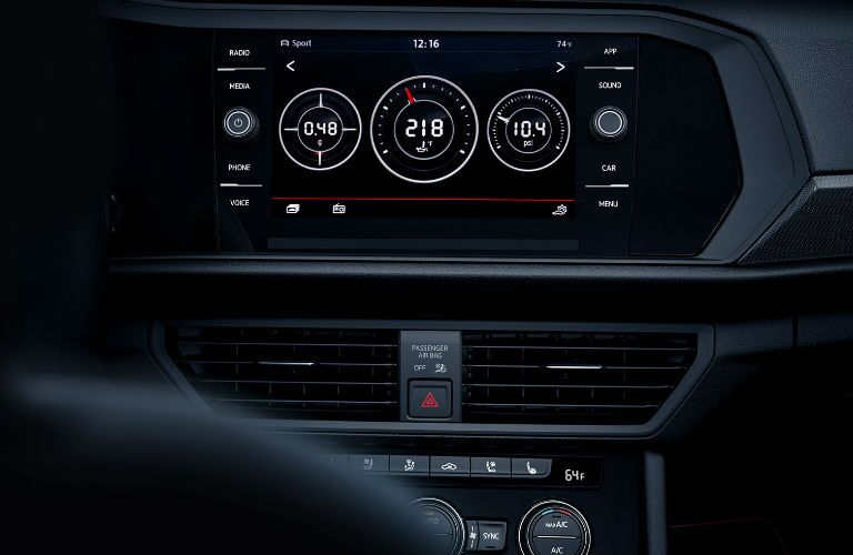 2019 Volkswagen Jetta GLI infotainment display screen