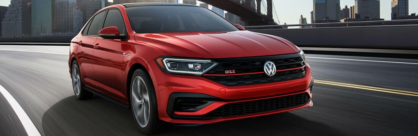 2019 Volkswagen Jetta GLI driving on a road