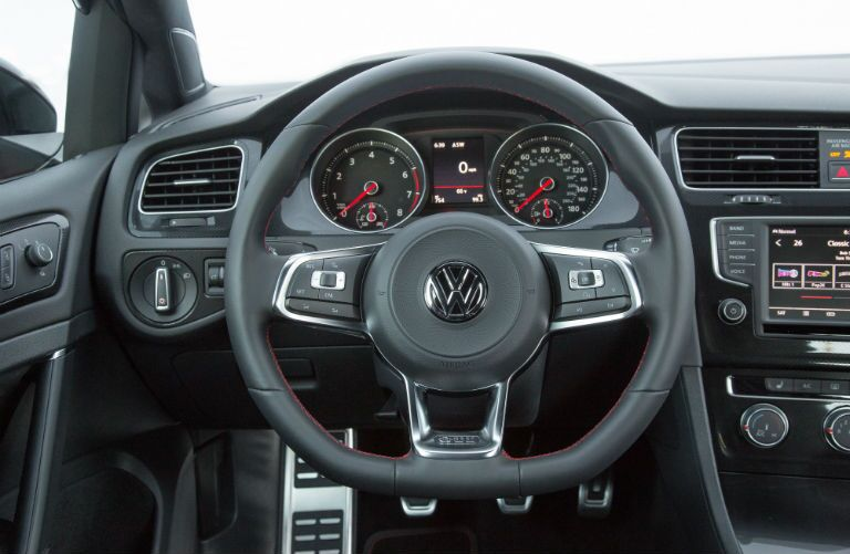leather wrapped steering wheel standard in 2017 Golf GTI Spartanburg, SC