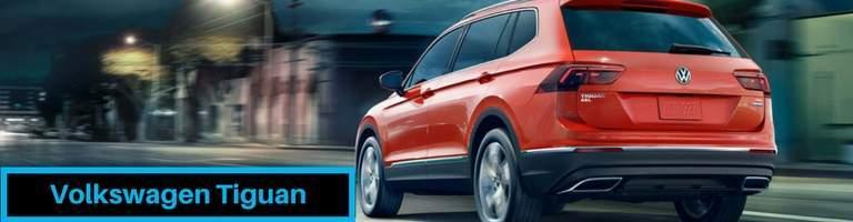 Rear View of Orange 2018 Volkswagen Tiguan