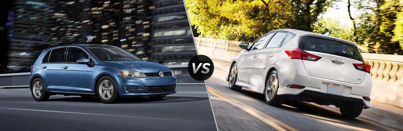 2017 VW Golf vs 2017 Toyota Corolla iM