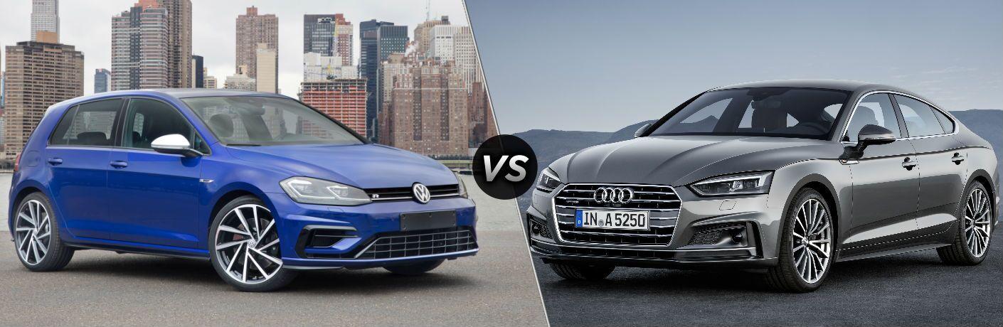 2018 Volkswagen Golf R vs 2018 Audi A5 Sportback