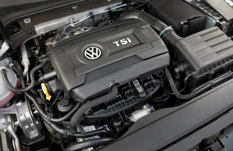 2018 Volkswagen Golf engine under hood