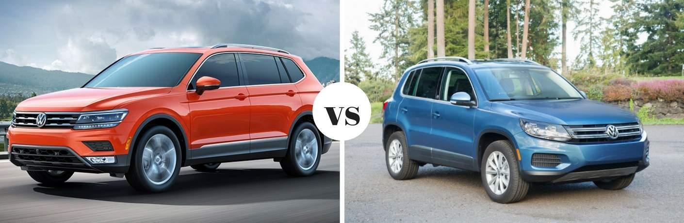 2018 Volkswagen Tiguan vs 2017 Volkswagen Tiguan