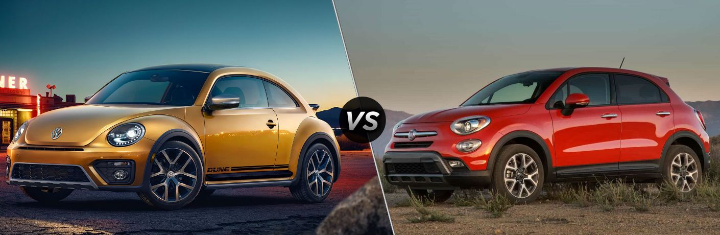 2018 Volkswagen Beetle vs 2018 Fiat 500X