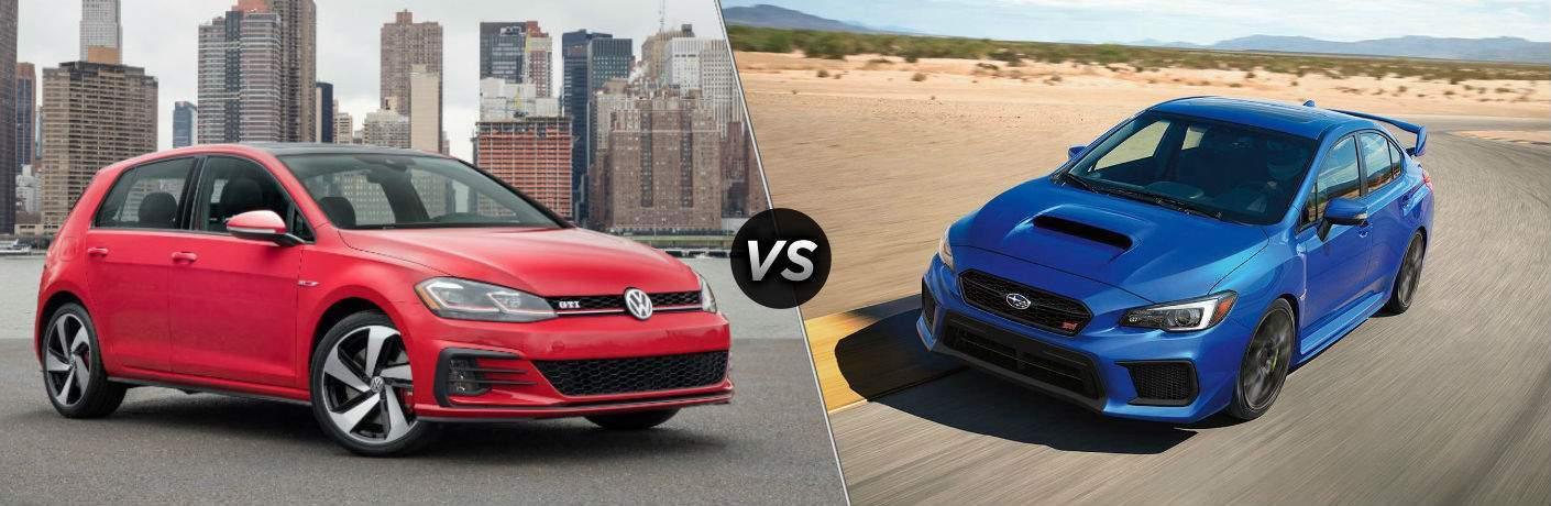 2018 Volkswagen Golf GTI vs 2018 Subaru WRX