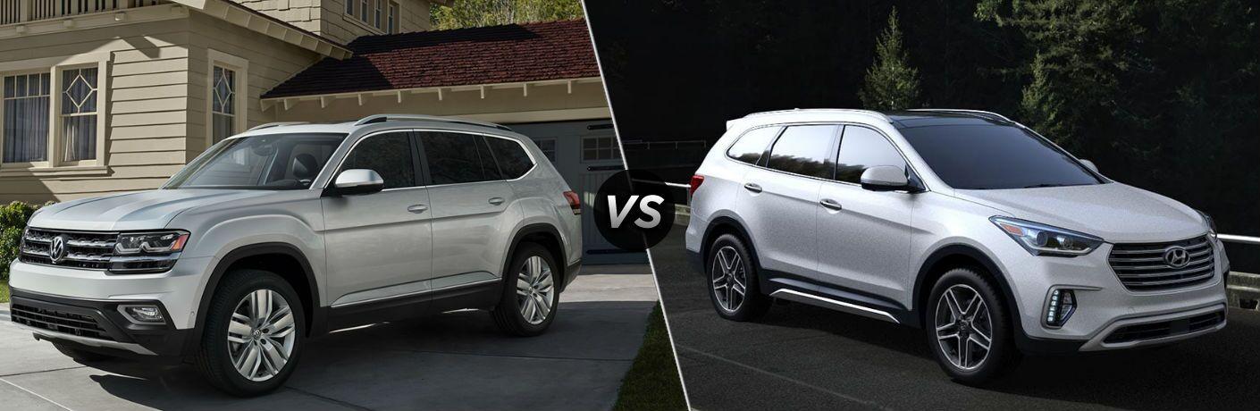 2019 Volkswagen Atlas vs 2019 Hyundai Santa Fe XL