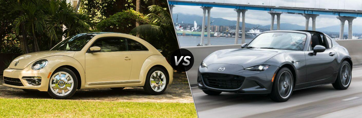 2019 Volkswagen Beetle vs 2019 Mazda MX-5 Miata